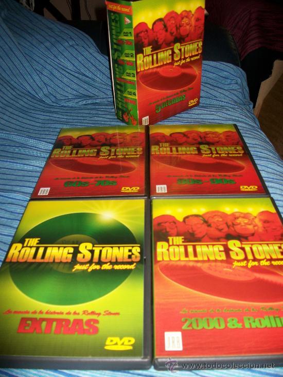 4DVDS ROLLING STONES - 5 DECADAS - 60S, 70S, 80S, 90S, 2000 Y EXTRAS (Música - Videos y DVD Musicales)