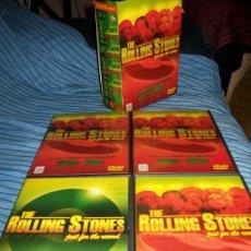 Vídeos y DVD Musicales: 4DVDS ROLLING STONES - 5 DECADAS - 60S, 70S, 80S, 90S, 2000 Y EXTRAS. Lote 35539734