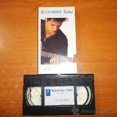 Vídeos y DVD Musicales: ALEJANDRO SANZ SI TU ME MIRAS VIDEO VHS PROMOCIONAL ASI SE HIZO EL ALBUM PORTADA DE CARTON 1993. Lote 36002593