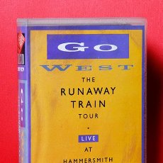 Vídeos y DVD Musicales: VHS GO WEST THE RUNAWAY TRAIN TOUR LIVE AT HAMMERSMITH ODEON. Lote 36949530