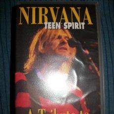 Vídeos y DVD Musicales: VHS - NIRVANA - TEEN SPIRIT - A TRIBUTE TO KURT COBAIN. Lote 37024428