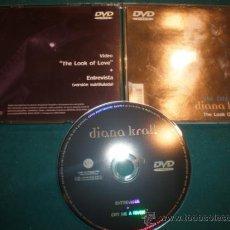 Vídeos y DVD Musicales: DIANA KRALL - UNA CITA CON... - THE LOOK OF LOVE + ENTREVISTA - DVD - VERVE 2001 - PROMOCIONAL. Lote 37083823