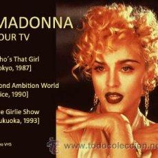 Vídeos y DVD Musicales: MADONNA - CONCIERTOS - VHS. Lote 38616303