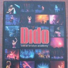 Vídeos y DVD Musicales: DIDO CANTANTE Y COMPOSITORA INGLESA NACIDA EN LONDRES DVD MAS CD. Lote 39846231