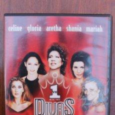 Vídeos y DVD Musicales: DIVAS LIVE: CELINE DION, GLORIA ESTEFAN, ARETHA FRANKLIN, SHANIA TWAIN, MARIAH CAREY - DVD MUSICAL. Lote 39931318