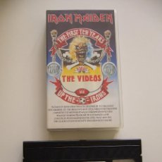 Vídeos y DVD Musicales: IRON MAIDEN. VIDEO VHS. THE FIRST TEN YEARS 1980 1990. Lote 40048051