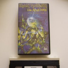 Vídeos y DVD Musicales: IRON MAIDEN. VIDEO VHS. LIVE AFTER DEATH. Lote 40048062