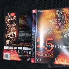 Vídeos y DVD Musicales: MADONNA MCCARTNEY FRANKLIN REM CLAPTON NIRVANA SPRINGSTEEN MELON VOGUE SINEAD DVD SATURDAY NIGHT . Lote 40777923