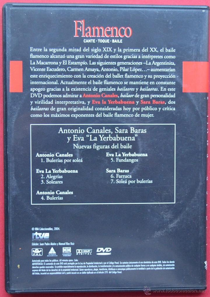 Vídeos y DVD Musicales: ANTONIO CANALES - SARA BARAS - EVA LA YERBABUENA - NUEVAS FIGURAS DEL BAILE - DVD - Foto 2 - 40822809