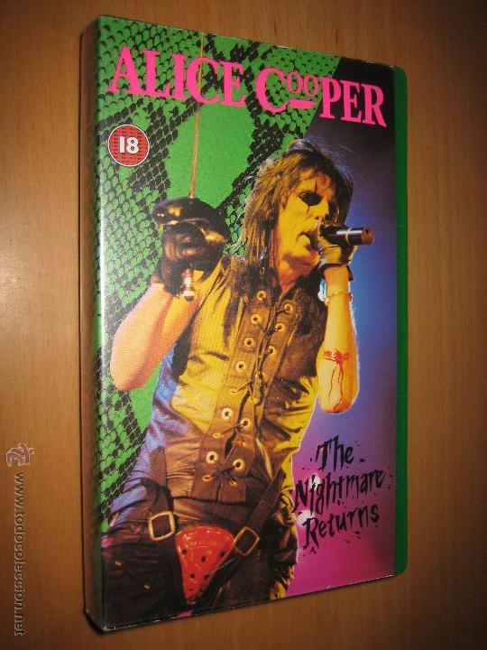 ALICE COOPER . THE NIGHTMARE RETURNS ( VIDEO VHS 86 MIN. HEAVY METAL) (Música - Videos y DVD Musicales)