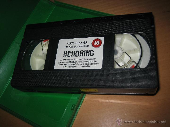 Vídeos y DVD Musicales: ALICE COOPER . THE NIGHTMARE RETURNS ( VIDEO VHS 86 min. HEAVY METAL) - Foto 3 - 42170845