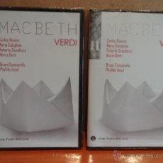Vídeos y DVD Musicales: MACBETH. GRAN TEATRE DEL LICEU. BICENTENARIO WAGNER / VERDI - 2013. VOL - I - II. PRECINTADO.. Lote 226906785