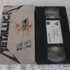 Vídeos y DVD Musicales: METALLICA - LIVE SHIT: BINGE & PURGE SEATTLE VHS. Lote 42574982