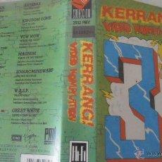 Vídeos y DVD Musicales: KERRANG - VIDEO KOMPILATION 3 VHS. Lote 42575015