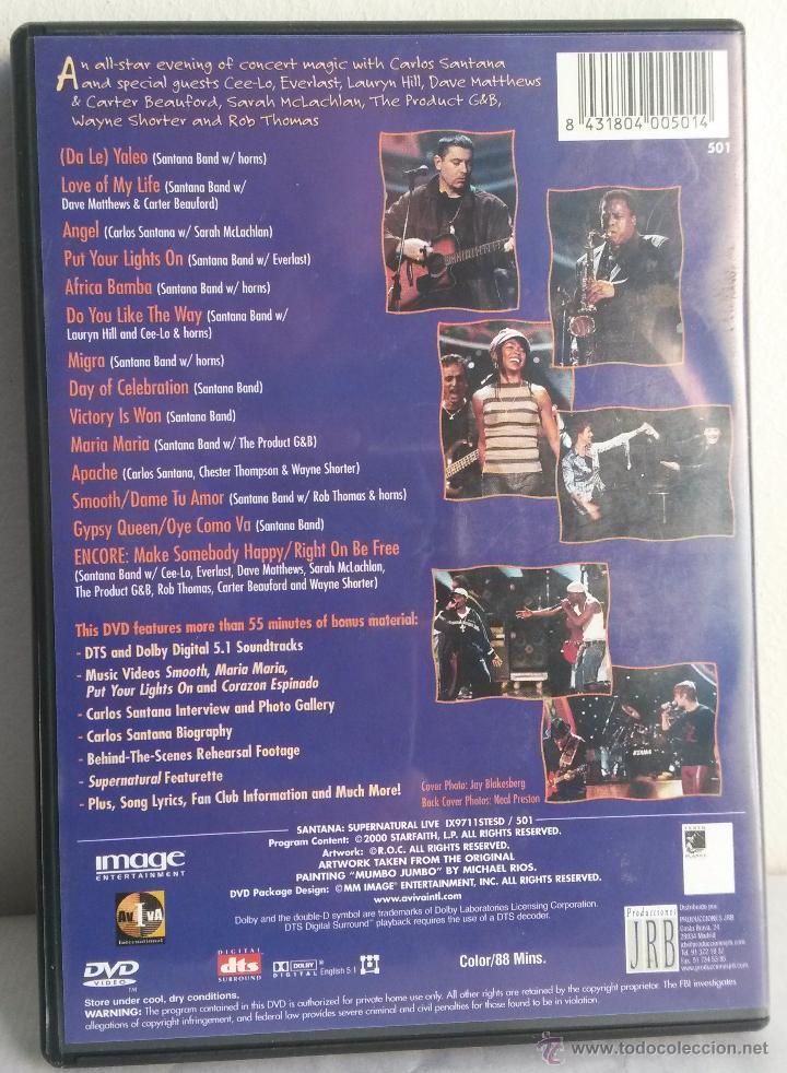 SANTANA  SUPERNATURAL LIVE  DVD