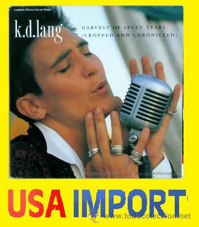 K.D.LANG HARVEST OF SEVEN YEARS (CROPPED AND CHRONICLED) 1991 ( LASER DISC ) NUEVO !!! PRECINTADO !! (Música - Videos y DVD Musicales)
