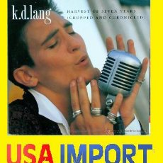 Vídeos y DVD Musicales: K.D.LANG HARVEST OF SEVEN YEARS (CROPPED AND CHRONICLED) 1991 ( LASER DISC ) NUEVO !!! PRECINTADO !!. Lote 42679598