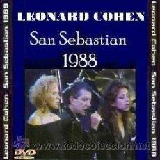 Vidéos y DVD Musicaux: LEONARD COHEN – EN DIRECTO EN SAN SEBASTIAN 1988 (DVD). Lote 208102580