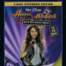 Vídeos y DVD Musicales: DVD HANNAH MONTANA BEST OF BOTH WORLDS CONCERT THE 3 -D MOVIE (2 DVD´S). Lote 43026306