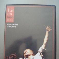 Vídeos y DVD Musicales: DVD MOMENTS D´ÒPERA AL LICEU TEMPORADA 1999-2003 FUNDACIÓ GRAN TEATRE DEL LICEU. Lote 43444345