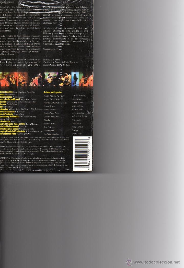 Vídeos y DVD Musicales: GUITARRA MÍA UN TRIBUTO A JOSÉ FELICIANO. SIN DESPRECINTAR. - Foto 2 - 43950993