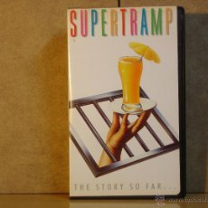 Vídeos y DVD Musicales: SUPERTRAMP - THE STORY SO FAR ... - VHS - AM 089 873-3 - 1990. Lote 44030668