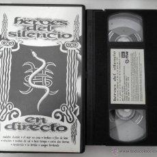 Vídeos y DVD Musicales: VHS HEROES DEL SILENCIO - EN DIRECTO - RTVE. Lote 44308984