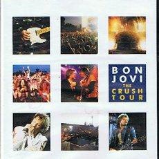 Vídeos y DVD Musicales: DVD BON JOVI THE CRUSH TOUR . Lote 44683777