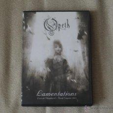 Vídeos y DVD Musicales: OPETH-LAMENTATIONS LIVE SHEPHERD·S RUSH EMPIRE 2003 DVD METALLICA IRON MAIDEN KREATOR. Lote 44731704