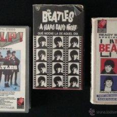 Vídeos y DVD Musicales: LOTE PELICULA ORIGINAL VHS LOS BEATLES SOCORRO QUE NOCHE LA DE AQUEL DIA LIVE THE BEATLES VIDEO. Lote 44828765