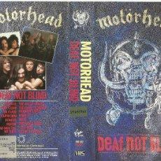 Vídeos y DVD Musicales: MOTORHEAD VHS DEAF NOT BLIND 1988. Lote 45386656