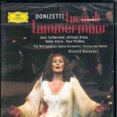 Vídeos y DVD Musicales: DVD ÓPERA - DONIZETTI - LUCIA DI LAMMERMOOR- METROPOLITAN OPERA ORCHESTRA- DIRECTOR: RICHARD BONYNGE. Lote 45474527