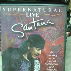 Vídeos y DVD Musicales: SANTANA SUPERNATURAL LIVE. Lote 45628715