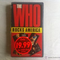 Vídeos y DVD Musicales: VHS THE WHO-ROCKS AMERICA. Lote 45670482