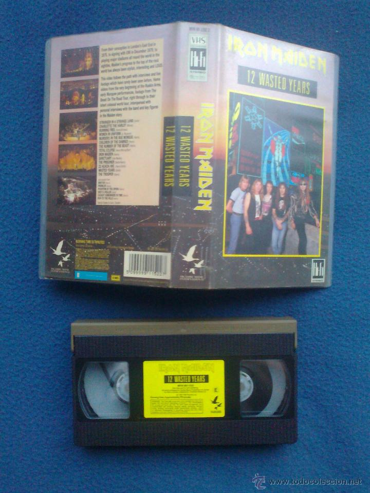 VIDEO ORIGINAL VHS IRON MAIDEN 12 WASTED YEARS 1988 (Música - Videos y DVD Musicales)