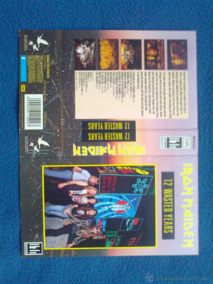 Vídeos y DVD Musicales: VIDEO ORIGINAL VHS IRON MAIDEN 12 WASTED YEARS 1988 - Foto 2 - 46467928