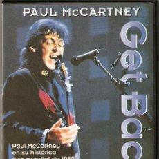 Vídeos y DVD Musicales: PAUL MCCARTNEY GET BACK. Lote 47079297
