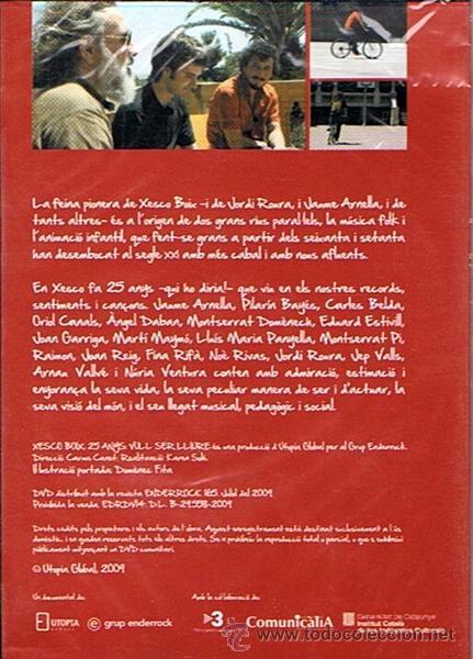 Vídeos y DVD Musicales: DVD XESCO BOIX 25 ANYS VUL SER LLIURE (PRECINTADO) - Foto 2 - 47314001