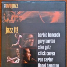 Vídeos y DVD Musicales: JAZZ IT - HERBIE HANCOCK, GARY BURTON, STAN GETZ, CHICK COREA, RON CARTER, LIONEL HAMPTON... DVD. Lote 47938888