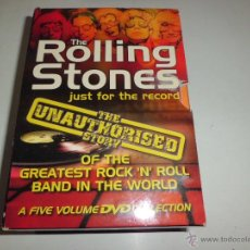 Vídeos y DVD Musicales: THE ROLLING STONES - JUST FOR THE RECORDS BOX 5 DVD´S IDIOMA INGLES 2003 LEER DESCRIPCION DIFICIL. Lote 48217817
