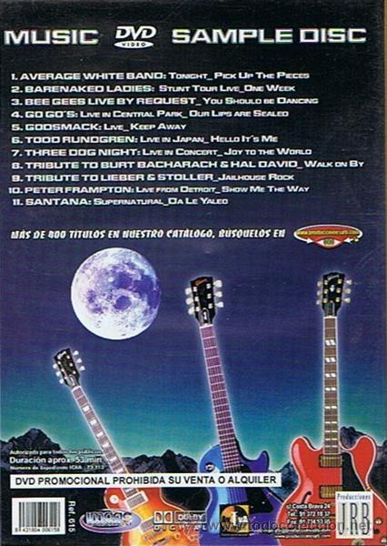 Vídeos y DVD Musicales: DVD MUSIC SAMPLE DISC - Foto 2 - 48379282