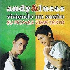 Vídeos y DVD Musicales: DVD ANDY & LUCAS VIVIENDO UN SUEÑO . Lote 109383714