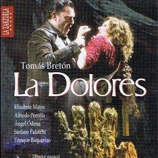 Vídeos y DVD Musicales: DVD LA DOLORES TOMÁS BRETÓN (EDICIÓN 2 DISCOS). Lote 48435038