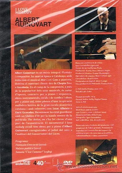 Vídeos y DVD Musicales: DVD I LOVE MELODY ALBERT GUINOVART (PRECINTADO) - Foto 2 - 48700160