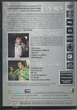 Vídeos y DVD Musicales: Cantares- Antonio Molina+ El Principe Giitano - Foto 2 - 49779602