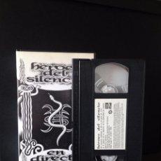 Vídeos y DVD Musicales: VHS BUNBURY HEROES DEL SILENCIO DIRECTO 1993. Lote 80241333