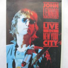Vídeos y DVD Musicales: JOHN LENNON. LIVE IN NEW YORK CITY. VHS. MUSICAL. MADE IN SPAIN. 1989.. Lote 50439107