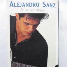 Vídeos y DVD Musicales: ALEJANDRO SANZ. SI TU ME MIRAS. VHS. ASI SE HIZO. VIDEO PROMOCIONAL. W.M. 1993. Lote 50441022