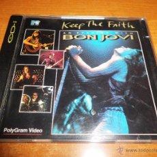 Vídeos y DVD Musicales: BON JOVI KEEP THE FAITH VIDEO CD AÑO 1993 HECHO EN ALEMANIA EDICION 2 DISCOS CD VIDEO NO DVD CD-I. Lote 51209339