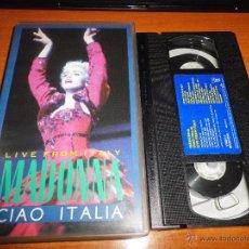 Vídeos y DVD Musicales: MADONNA LIVE FROM ITALY CIAO ITALIA VIDEO VHS DEL AÑO 1988 100 MINUTOS. Lote 51344027